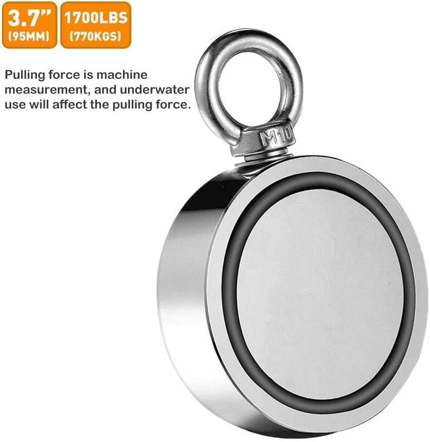 Gighlofe Strong Double Sided Magnetic Ring Strong Magnetic Ring Salvage,Double Sided Magnet Magnetic Hook,Dual Side Fishing Magnets