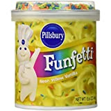 Pillsbury Funfetti Neon Yellow Flavored, Vanilla, 15.6 Ounce