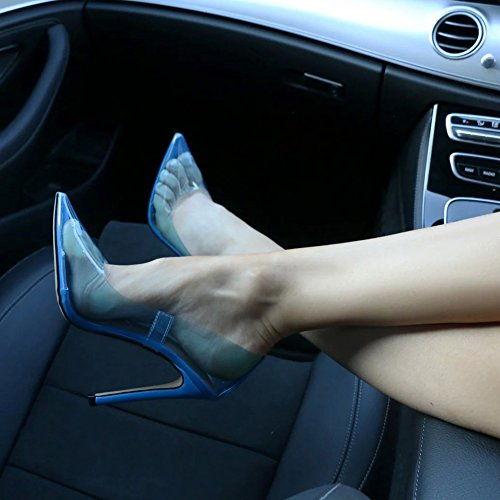 Shoes Clear amp;Heel Stiletto Court Blue Hell w7Ip1qfp