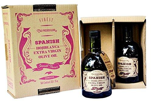 Spanish Hojiblanca Extra Virgin Olive Oil - 2 Bottle Box (33.8 fl oz) from GringoCool