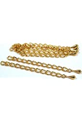 6 Teardrop Chain Extender Jewelry Necklace Gold Plated