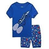 Boys Pajamas Tee and Shorts Cotton Sleepwear Clothes Set Long Sleeve Pjs