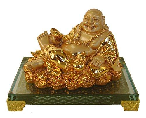 - Feng Shui Import Golden Lying Down Happy Money Buddha