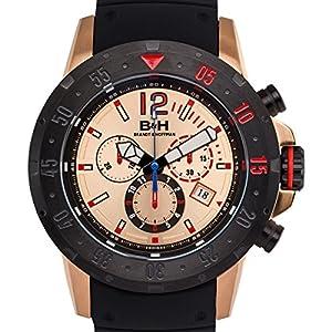 Brandt & Hoffman Men's 'Forsyth' Swiss Ronda 5040.D Textured Silicone Watch(Model: 62625355)