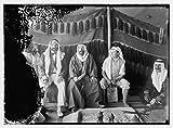 1898 Photo El-Azrak & Wadi Sirhan in the Arabian desert. Druse [i.e., Druze] political refugees from Jebel Druse (The Hauran). Sheikh Sultan el-Atrash, leader of Druse revolt in October, 1925 and othe