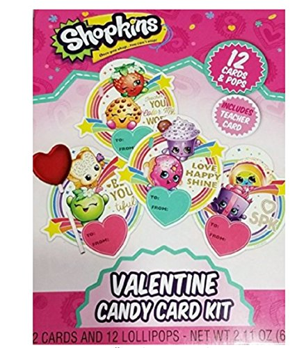 (Shopkins Valentine Candy Card Kit 12 Count)