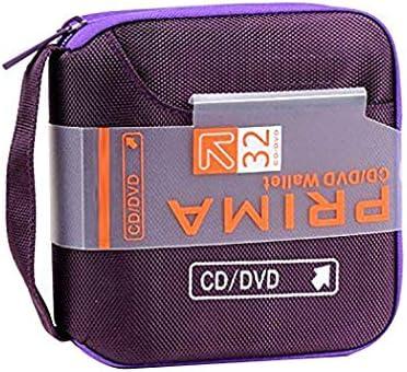 Estuche de CD, Fanspack Estuche Porta CD para 32 CD/DVD/BLU-Rays, portafolios para Guardar CD: Amazon.es: Electrónica