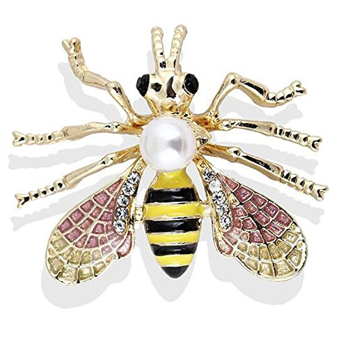 Pin Women and Animals Men Crystals for Collar 10 Corsage Bee Brooches UqRn1UwX