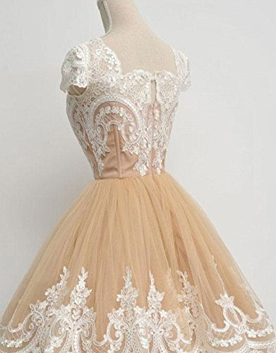Coral A Short Girls Vintage Homecoming Prom Dresses Appliques Lace Dreagel for line Gowns 6O7qW7