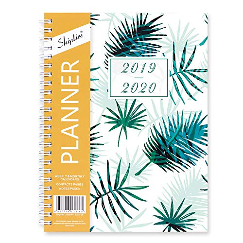 2019-2020 Planner Academic, Shiplies Weekly & Monthly A5 Daily Calendar Organizer Time Management, 12 Monthly Tabs, 5.8 x 8.3 Inches