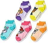 Nickelodeon Little Girls Paw Patrol 5 Pack Shorty Sock