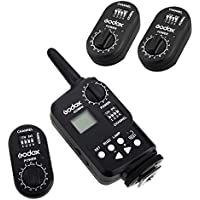 Godox FT-16 Wireless Power Controller Remote Flash Trigger + 2Pcs Godox FTR-16 Receiver for Godox Witstro AD180 AD360 Speedlite Flash