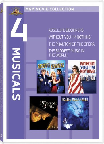 MGM Movie Collection - 4 Musicals (Absolute Beginners / Without You I'm Nothing / The Phantom of the Opera / The Saddest Music in the World) by MGM (Video & DVD)