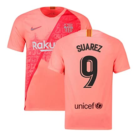 6c41b9ee8f1 Amazon.com : 2018-2019 Barcelona Third Nike Football Soccer T-Shirt Jersey  (Luis Suarez 9) : Clothing