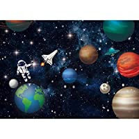 FLASIY Space Theme Backdrop 7x5FT Starry Sky Photography Backgrounds for YouTube Party Kids Baby Photo Studio Props GEAY514