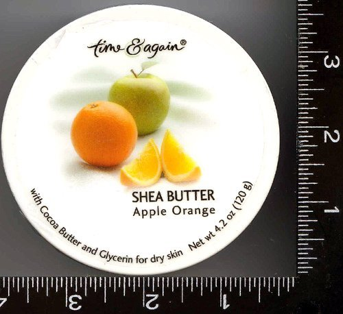 Shea Butter, Body Cream, Body Butter, 1 , Apple Orange , - Rounds Silver Texas