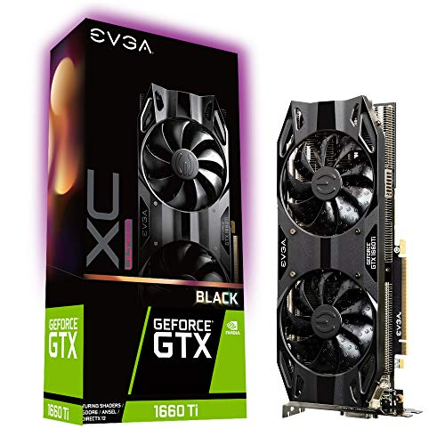 EVGA GeForce GTX 1660 Ti XC Ultra Black Gaming, 6GB GDDR6, Dual HDB Fans, 06G-P4-1265-KR