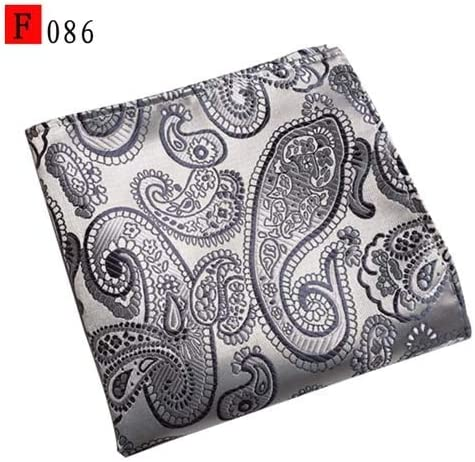 Size:25cmx25cm; Color:F086 BIG-DEAL/_New Perris Cashew Flower Handkerchief Mens Pocket Towel Floral Pocket Square Business Chest Towel Hanky Gentlemen Suit Hankies