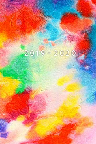 Planner Starting May 2019 - Dec 2020 | 6 x 9 Dated Agenda | Appointment Calendar | Organizer Book | Soft-Cover Watercolor Art ()