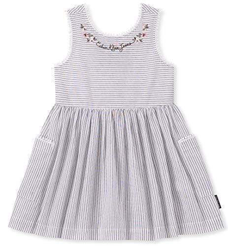 Calvin Klein Baby Girls Dress, Stripes, 18M