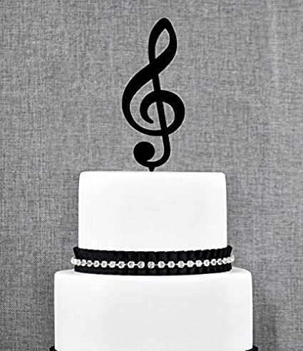Amazoncom Music Note Wedding Cake Topper Music Cake Topper Music