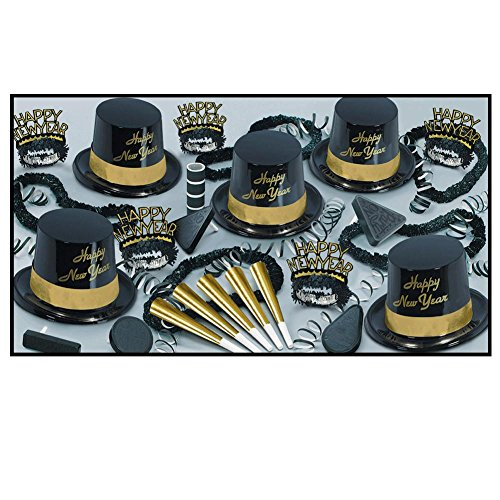 Beistle 88780NRBKG 1-Pack Decorative Legacy Party Assortments for 10 People, Gold