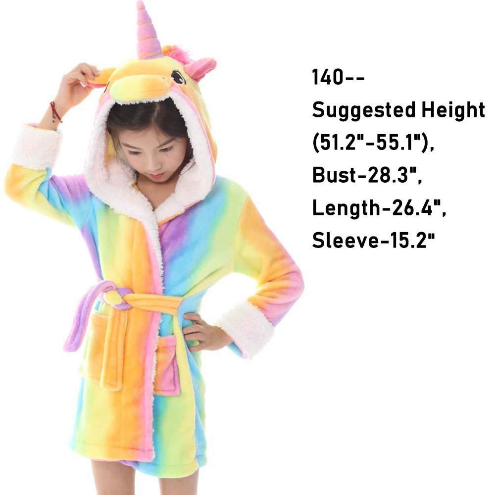 1ae42ecd8ea5 Amazon.com  Kids Hooded Bathrobe Pajamas Soft Plush Comfortable Sleepwear  Loungewear Cute Cartoon Pattern Nightgown for Bathroom Bedroom  HIFUAR  Baby