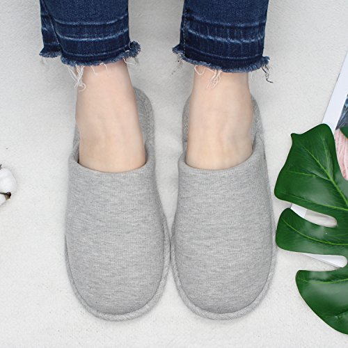 Ofoot Women's Cozy Cotton Thread Cloth House Slippers, Indoor / Outdoor Slip on Shoes by Ofoot (Image #5)