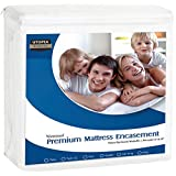 Utopia Bedding Premium Zippered Waterproof Mattress Encasement - Bed Bug Proof Mattress Cover - Ample Zipper Opening Mattress Protector (Queen)