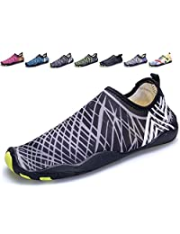Kitleler Men Women Barefoot Quick-Dry Aqua Water Shoes with Drainage Hole for Yoga Swimming