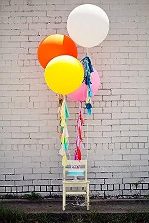 Orange Ballons g/éants en Latex r/éutilisables pour Ballons Extra Grands et /épais pour d/écorations de Mariages GuassLee 5 Big Balloons d/écorations de No/ël et Festivals Ballons Ronds de 36 Pouces