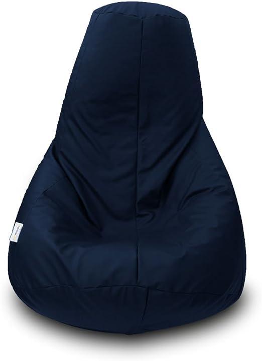 Puff Pera Polipiel XL 90x135cm (Azul Marino): Amazon.es: Hogar