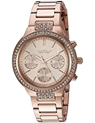 Bulova Womens Quartz Stainless Steel Casual Watch, Color:Rose Gold-Toned (Model: 44L180)