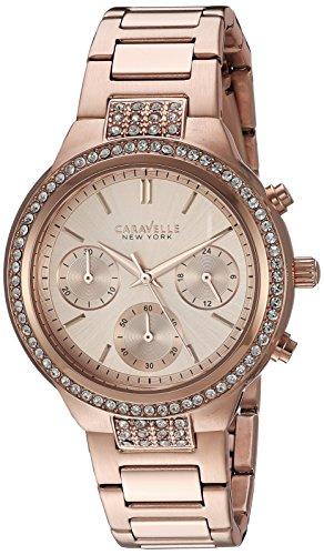 Bulova Women's Quartz Watch with Stainless-Steel Strap, Rose Gold, 10 (Model: 44L180)