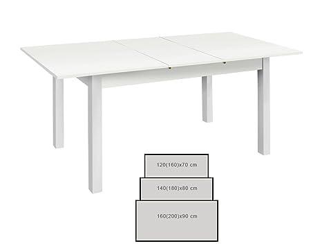 Tavolo da pranzo Cottbus bianco dimensioni a scelta per la sala da ...