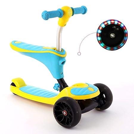 ETTBC Scooters 2 en 1 Pedal de Principiante para niños 4 ...