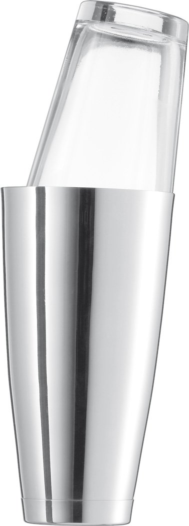 Schott Zwiesel Basic Bar Designed by World Renowned Mixologist Charles Schumann, 2 Piece Stainless Steel and Glass Boston Shaker, 28.7-Ounce,