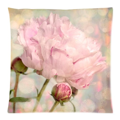 The New Arrive 2015 Nature Peony Flower Bud Pink Shabby Chic Pillow Cases - 18x18 iExia throw pillow000001