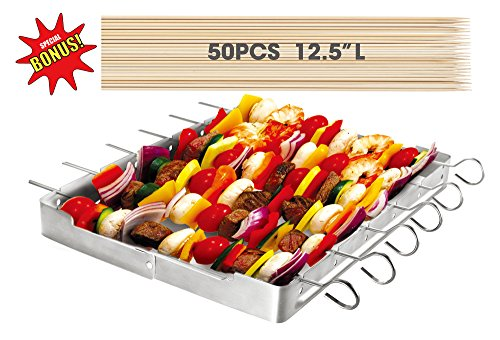 Heavy Duty Stainless Steel Barbecue Kabob Set