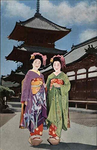 Maiko Girls of Kyoto Kyoto, Japan Original Vintage Postcard