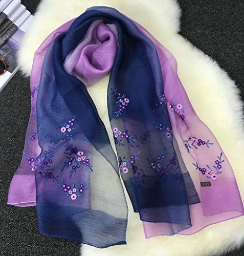 Ricamo Anti Tulle Rosso Beach Silk 2 Donna Turismo Colori 5 Sciarpa Sciarpa Uv misti All Colorato Estate qwnXCH