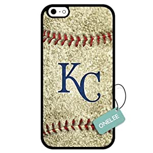 (TCustomized MLB Kansas City Royals Team Logo Design PC Case For Iphone 5C Cover Case CovBlack 01