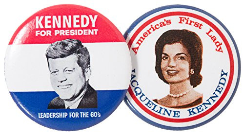 John F. Kennedy For President and Jackie 1960 Campaign Historical Replica Pins Button 1.5