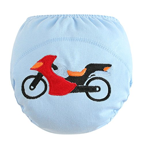 MagiDeal Baby Cute Cartoon Reusable Diaper Infant Children Training Pants Nappy Novelty - Motorcycle, 90(13KG)