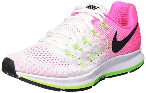 Nike Damen Air Zoom Pegasus 33 Laufschuhe, Mehrfarbig (White/Black-Pink Blast-Electric Green), 40.5 EU
