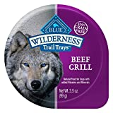 Blue Buffalo Wilderness Trail Trays High Protein Grain Free, Natural Adult Wet Dog Food Cups, Beef Grill 3.5-Oz (Pack Of 12) For Sale