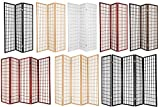 Legacy Decor 3, 4, 6, 5, 8 Panels Room Divider Screen Partition Shoji Style 6 ft Tall