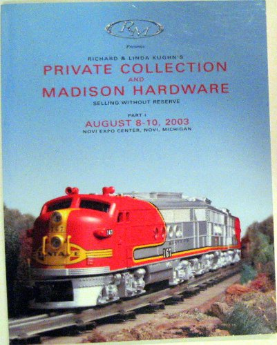 Madison Hardware - Richard and Linda Kughn's Private Collection and Madison Hardware : Selling Without Reserve, Part 1, August 8-10, 2003, Novi, Michigan
