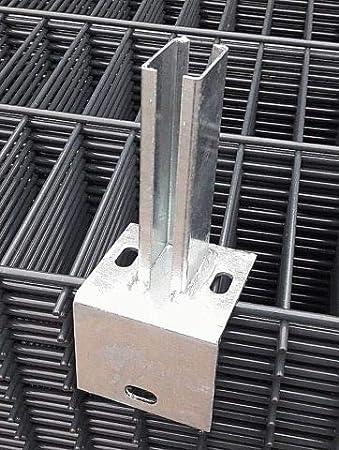 Winkel Bodenplatte Fussplatte Adapter Doppelstabmattenzaun