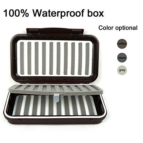 Aventik 100 Waterproof Swing Leaf Fly Box1,000 Flies Capacity Slit Foam for Fly Fishing Flies